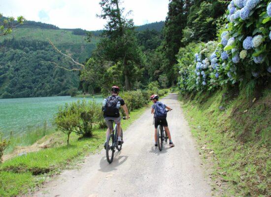 סאו מיגל Sete Cidades אופניים האיים האזוריים