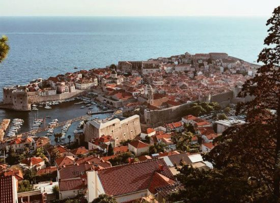 Canva - View of beautiful old harbor of Dubrovnik