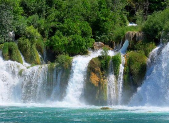 Canva - Waterfalls in Krka National Park, Croatia